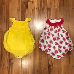 First Impressions Dresses - Bundle of two 0-3 bubble rompers